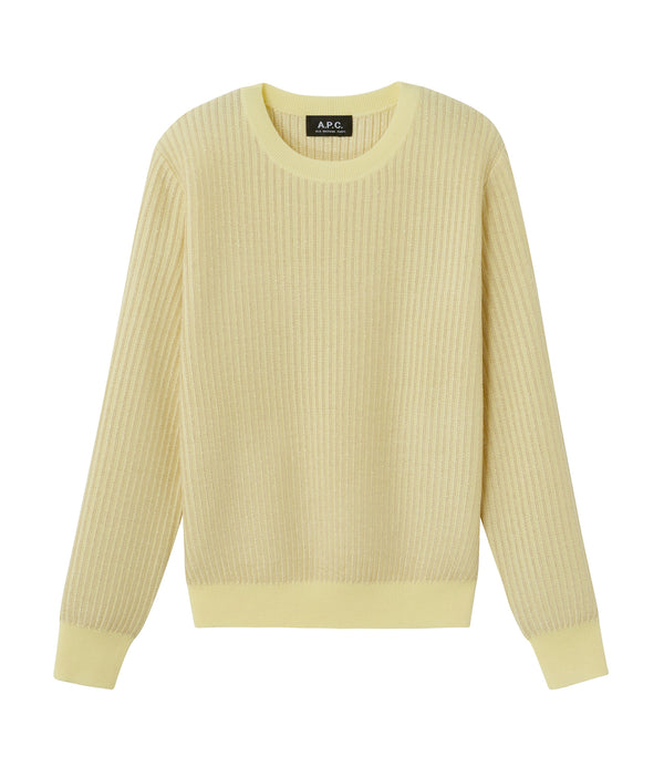 Evelyn sweater - DAB - Pale yellow