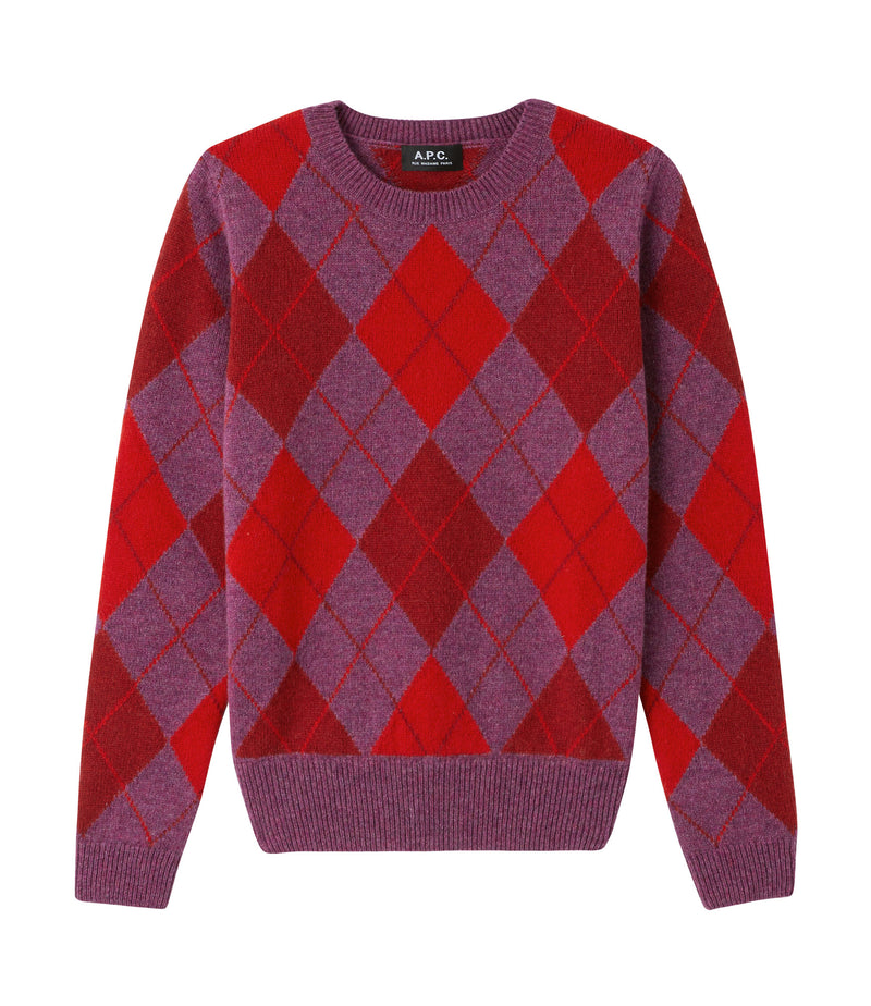 This is the Hélène sweater product item. Style PIQ-1 is shown.