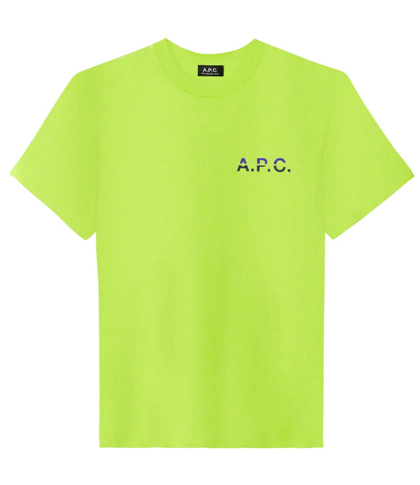 David T-shirt - KAM - Fluorescent green
