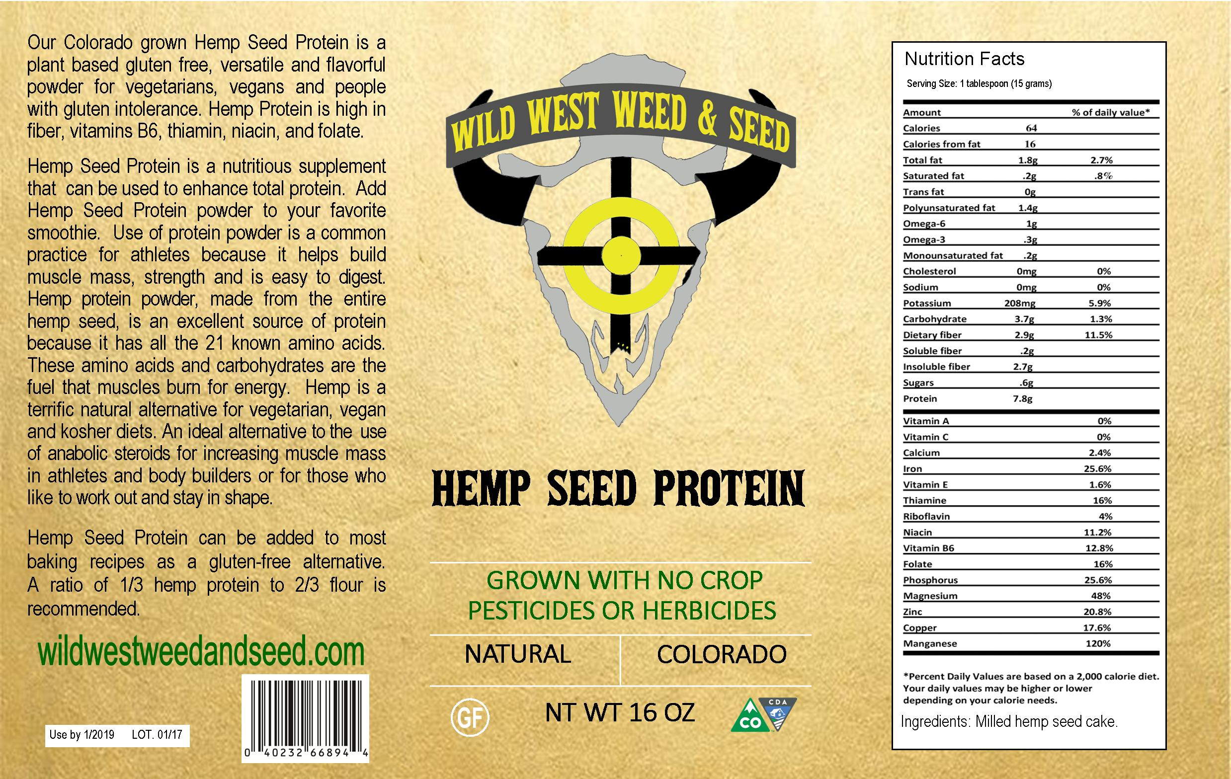 Hemp Protein Powder (16oz)