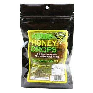 CBD Hemp Honey Drops (200mg|10 Drops)