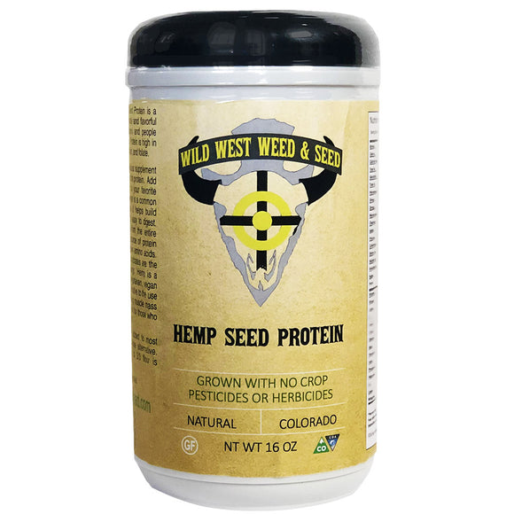 Hemp Protein Powder (16oz) [THC/CBD-FREE]