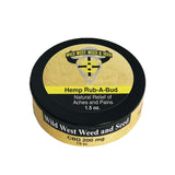 Rub a Bud balm for aches and pains from Wild West Weed and seed