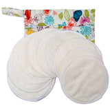 Coloured Bamboo Nursing Pads & Bag - 3 Layers