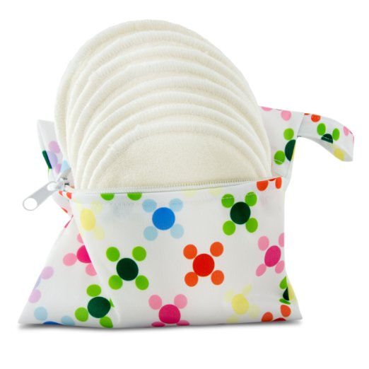 Bamboo Nursing Pads & Bag - 4 Layers
