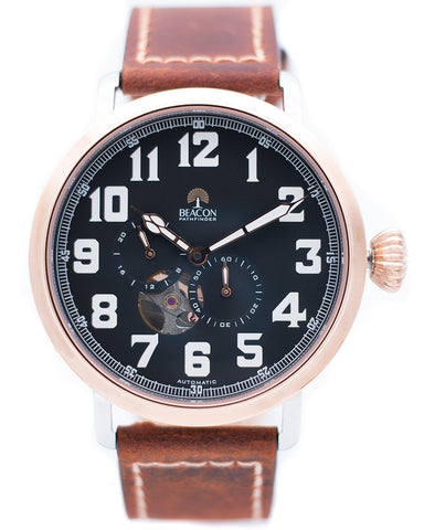 The Pathfinder 45mm - Charcoal Gold - Beacon Watches Co.