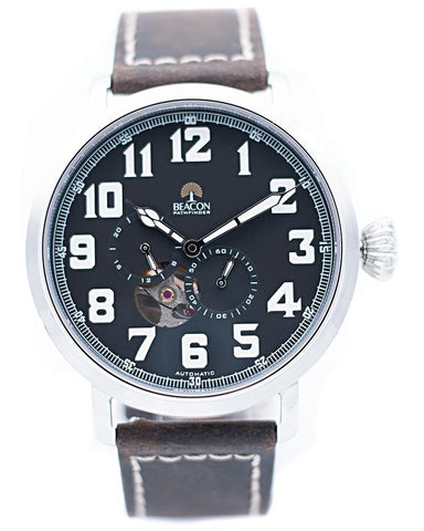 The Pathfinder 45mm - Charcoal Silver - Beacon Watches Co.