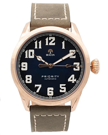 (Pre-Order) The Priority 42mm - Aqua Gold - Beacon Watches Co.
