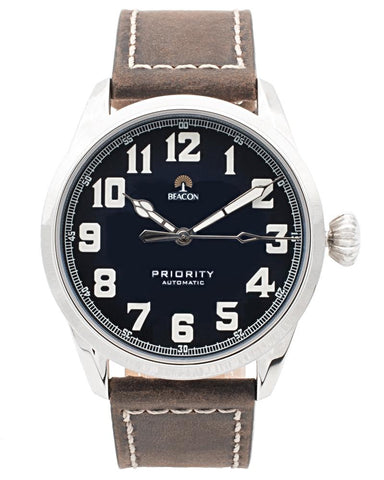 (Pre-Order) The Priority 42mm - Aqua Silver - Beacon Watches Co.