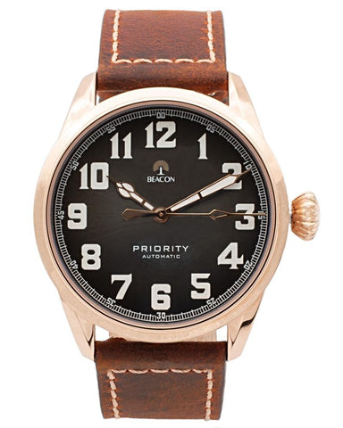 (Pre-Order) The Priority 42mm - Charcoal Gold - Beacon Watches Co.
