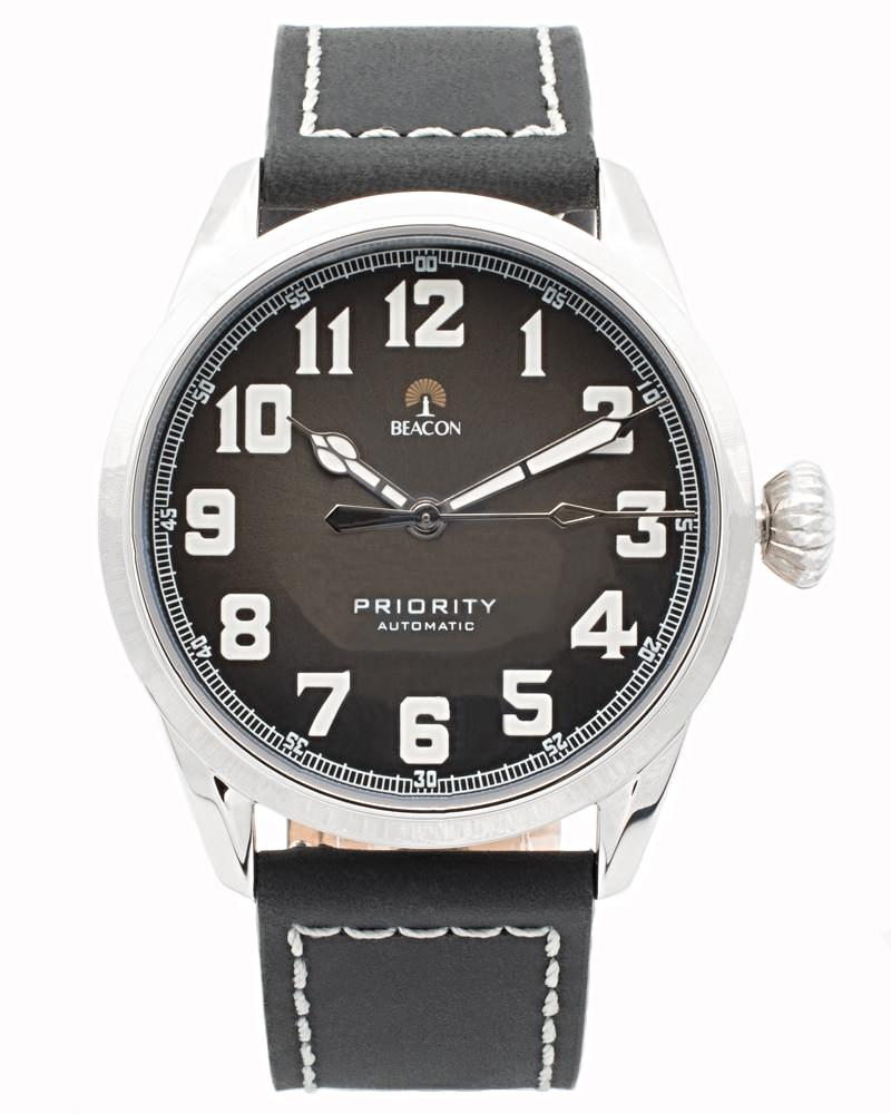 (Pre-Order) The Priority 42mm - Charcoal Silver - Beacon Watches Co.