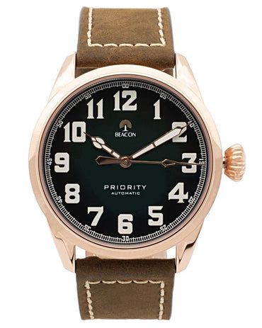 (Pre-Order) The Priority 42mm - Pine Gold - Beacon Watches Co.