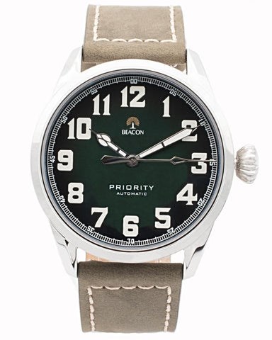 (Pre-Order) The Priority 42mm - Pine Silver - Beacon Watches Co.