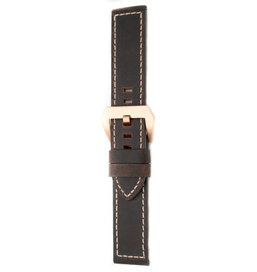 22mm Italian Leather Strap - Brown - Beacon Watches Co.