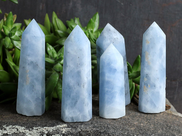 Blue Calcite Point