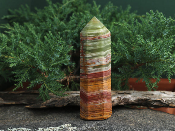 Red & Green Onyx Point (one of a kind)