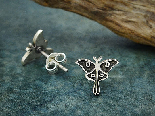 Luna Moth Stud Earrings