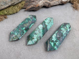 Malachite Double Terminated Crystal Points