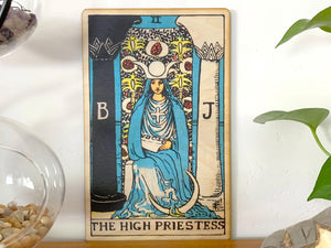 The High Priestess Wooden Art Print