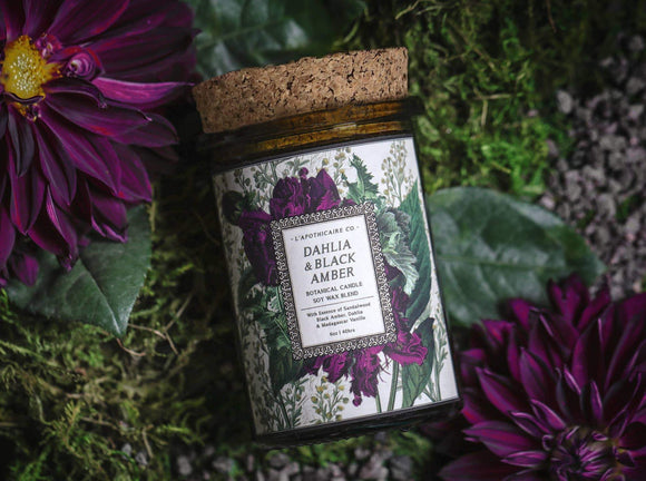 Dahlia & Black Amber Candle