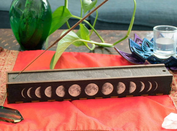 Moon Phases Stick Incense Box