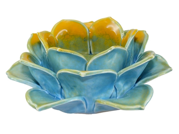 Ceramic Lotus Tea Light Holder