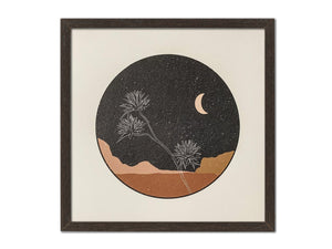 """Desert Flower at Night"" Art Print"