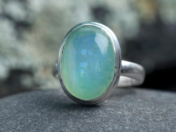 Green Rainbow Moonstone Ring
