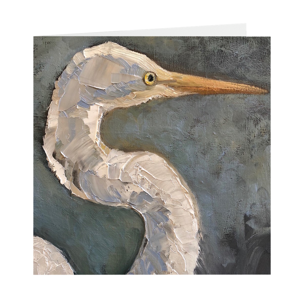 Great Egret | Folded Fine Art Card | Pack of 10