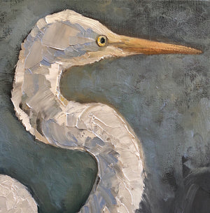 "Great Egret | Oil on Canvas | 24"" x 26"""