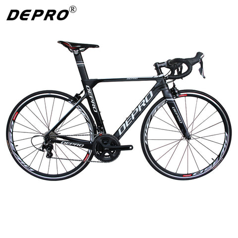 2017 DEPRO R1-500-EB-22SM Complete Bicycle Presented Pedal 700C Carbon Fiber Frame 22 Speed Bicycle 8KG Road Bike