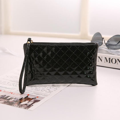 carteras mujer 2016 womens purses Leather Receipt Holder Organizer Wallet Small Long Purse Zipper Clutch Wallet