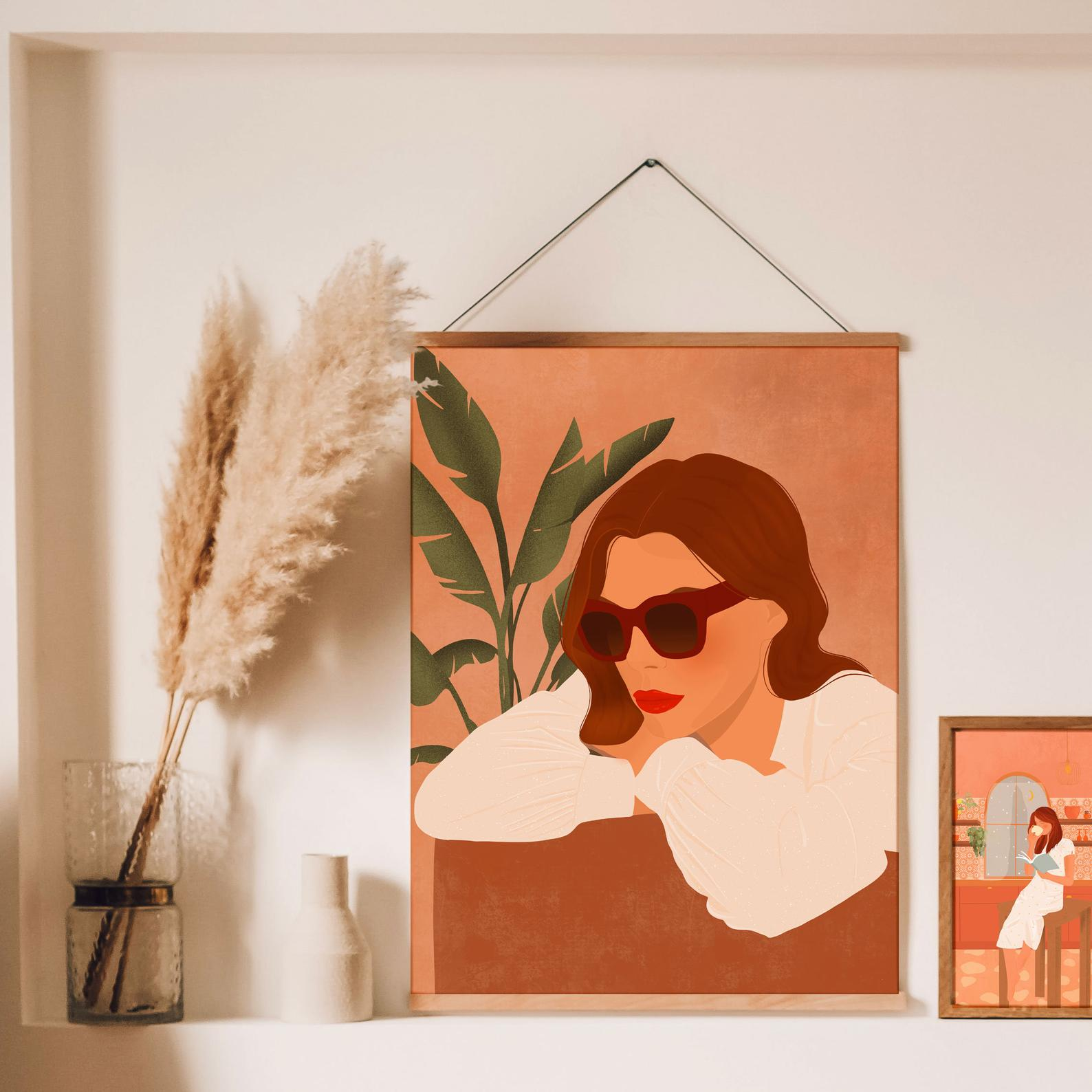 Affiche Itsfunnyhowww | Femme aux lunettes
