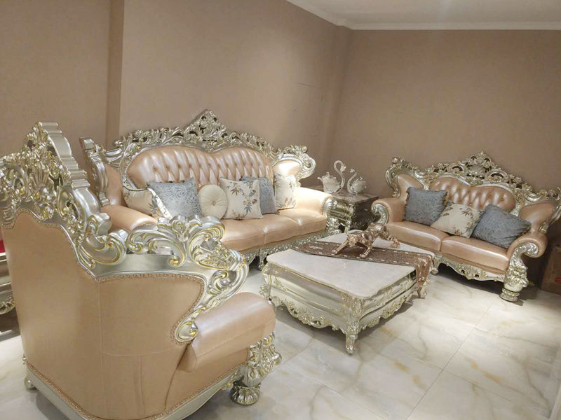 Luxury Wooden Carving Sofa