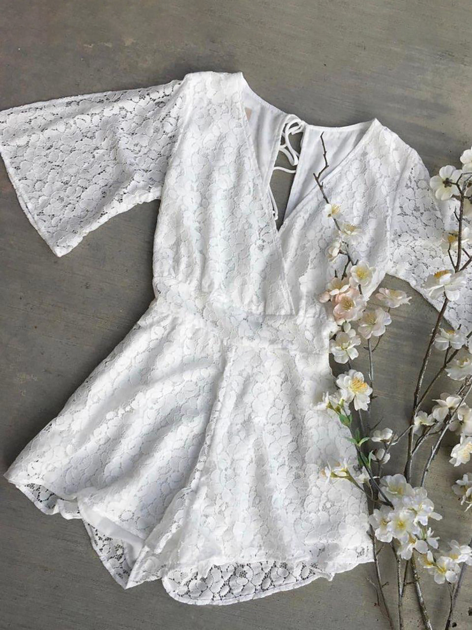 LACE NEW YOU ROMPER - NEW NEW