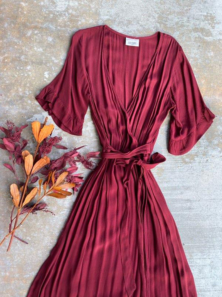ENCHANTED WRAP DRESS - NEW NEW