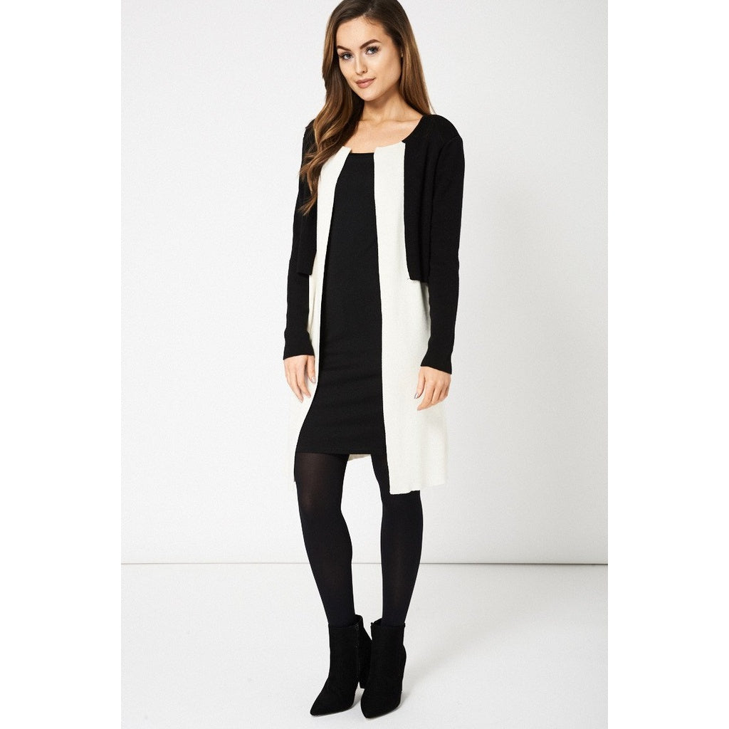 Black and Cream Overlay Cardigan Ex-Branded