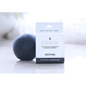CLEANSE Activated Charcoal Konjac Sponge