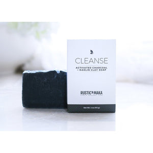 CLEANSE Activated Charcoal Mint + Grapefruit Soap (4 oz)