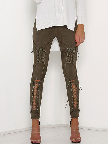 Sparkly Lace Up Pants