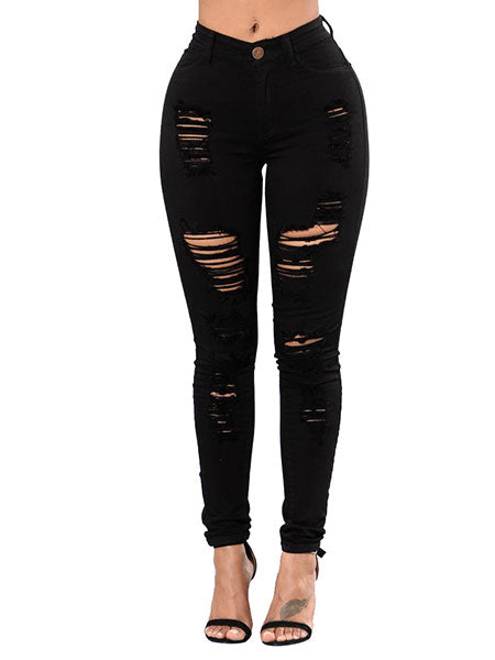 Ripped Highrise Pants