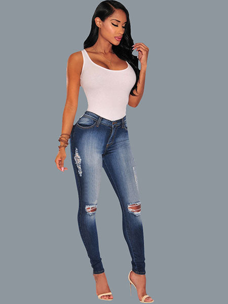 Distressed Skinny Jeans Pants