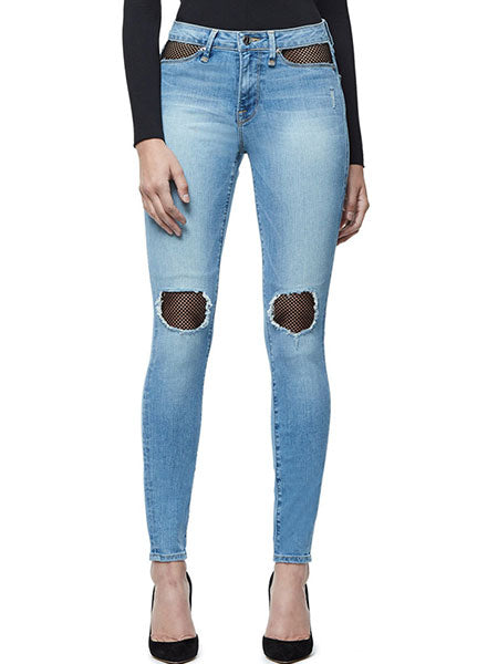 Ripped Knee Jeans Pants