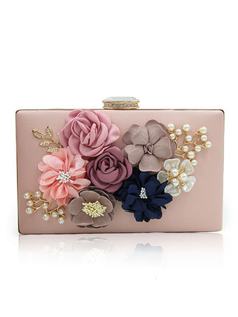 Embelished Flower Clutch Bag