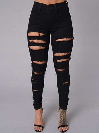 Frayed Jeans Pants