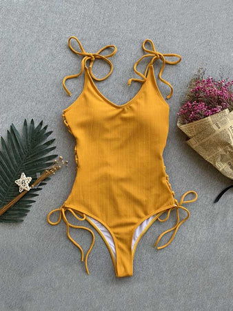 Tie-up Sexy One Piece Bikini
