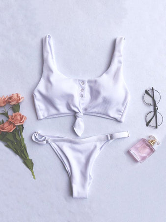 Botton Sexy Two Piece Swimsuit