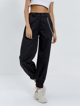 Chain Pocket Jogger Pants