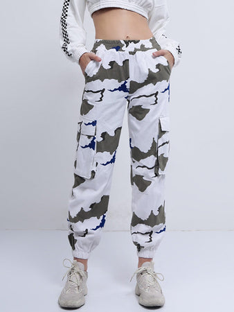 Camouflage Print Casusl Pants