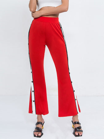 Contrast color Bell Pants